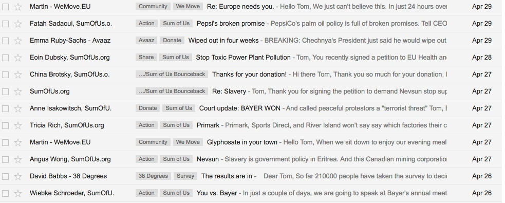 What happened when I said 'YES' to every email from an online campaign platform?