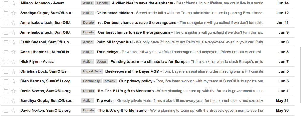 What happens if you don't open any campaign emails for a year?